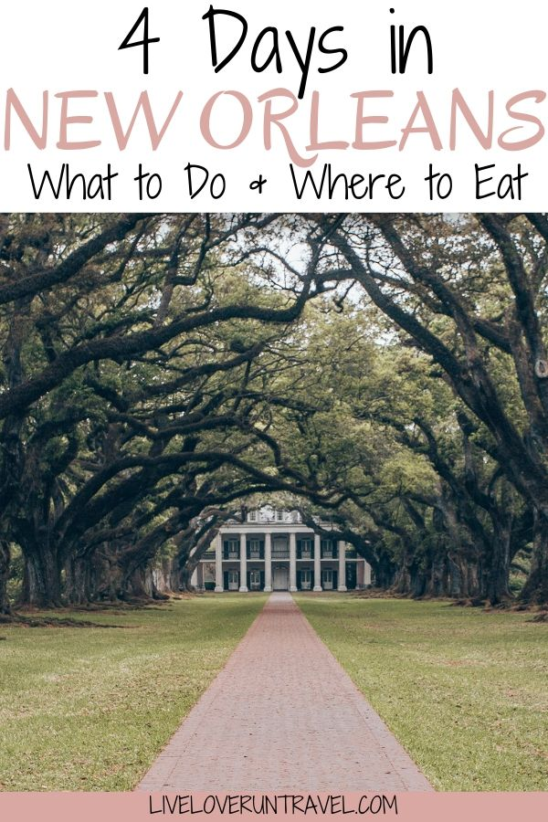 4 Days in New Orleans with a stop at Oak Alley Plantation