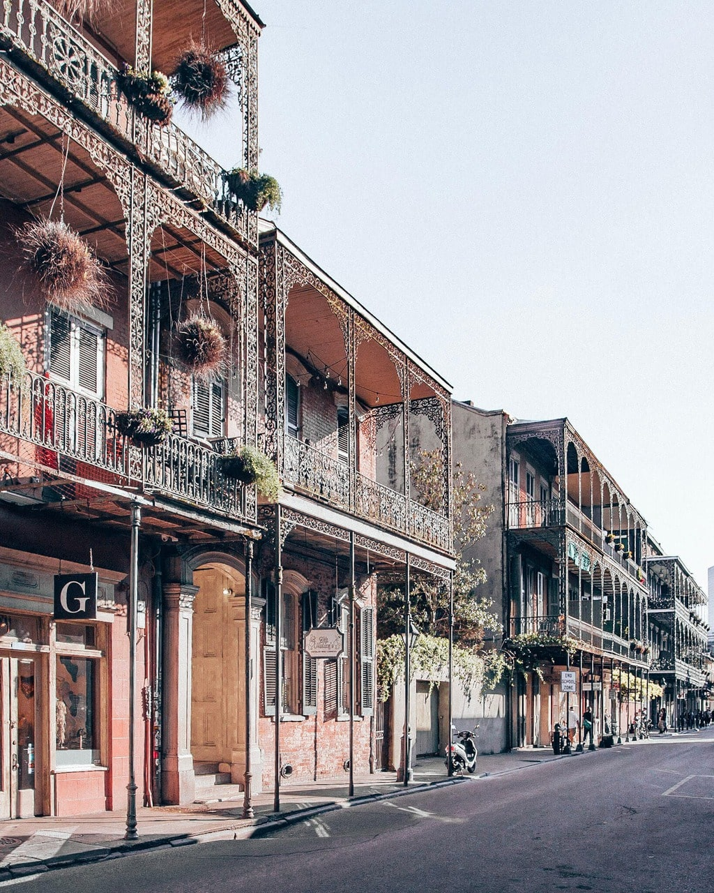 A street in the French Quarter in New Orleans, Louisiana