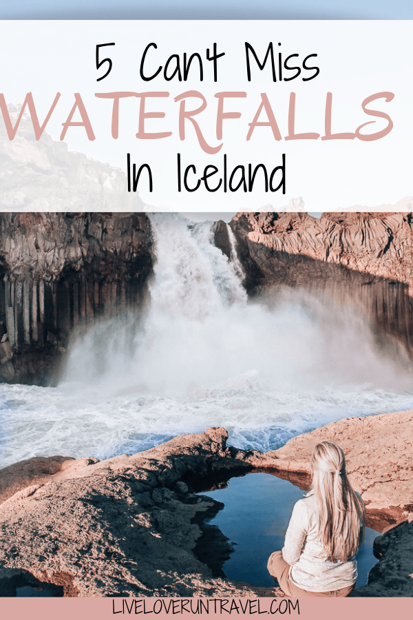 Aldeyjarfoss waterfall in Iceland is famous for this little pool across from it. The water is cold and only about a foot deep usually. Find how to get to this little pool and the top five waterfalls in Iceland you don't want to miss. #iceland #icelandtravel #icelandroadtrip #icelandwaterfall