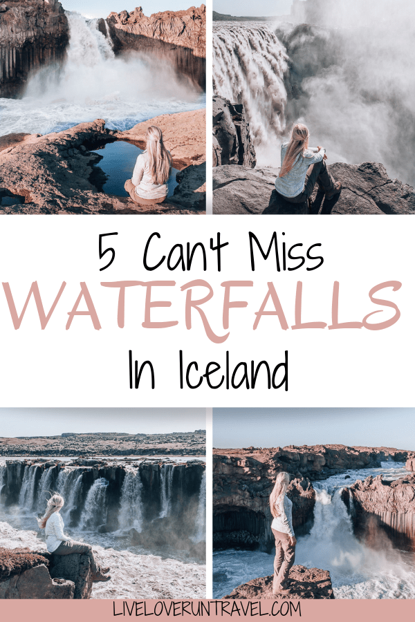 With so many waterfalls in Iceland to see and usually so little time, here are the top 5 waterfalls in Iceland that you don't want to miss. If you are planning an Iceland vacation, click for advice on the best time to visit, where to get the best pictures, and everything else you need to make sure you don't miss out. #iceland #icelandtravel #icelandwaterfall