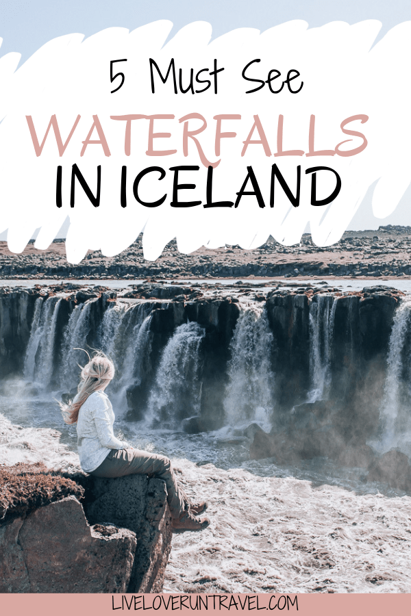 Selfoss is a lesser known waterfall in Iceland but is not a far walk from one of the more often visited waterfalls. Click to find out how to get here, which side is the best side to visit, and more about the top five waterfalls in Iceland. #icelandtravel #iceland #icelandwaterfall