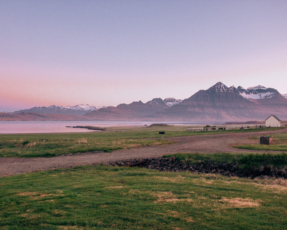 View from Berunes HI Hostel and Camp in Djupivogur in Iceland. Check out our perfect 6 day itinerary for Ring Road in Iceland!