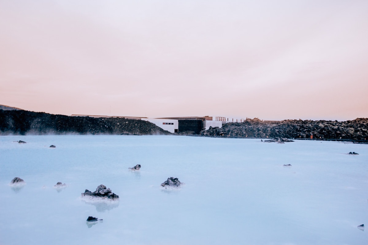 Free view outside of Blue Lagoon Reykjavik in Iceland