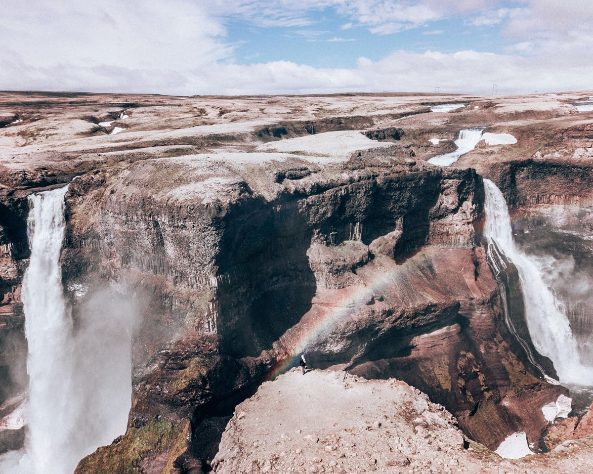 Haifoss and Granni waterfalls in Iceland (The Ultimate Ring Road Adventure: A 6 Day Iceland Itinerary)