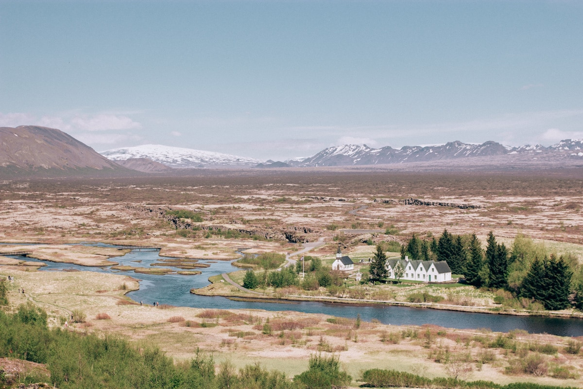 Continental divide in Thingvellir National Park in Iceland. Check out the perfect 6 day itinerary for Iceland here.