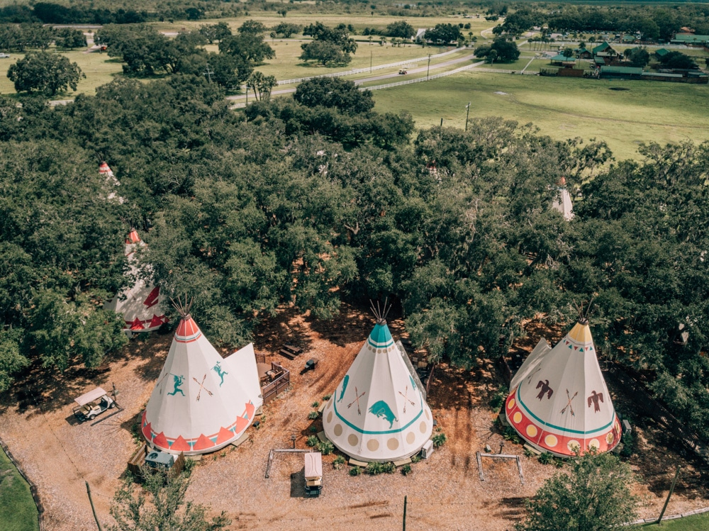Luxe teepees at Westgate River Ranch