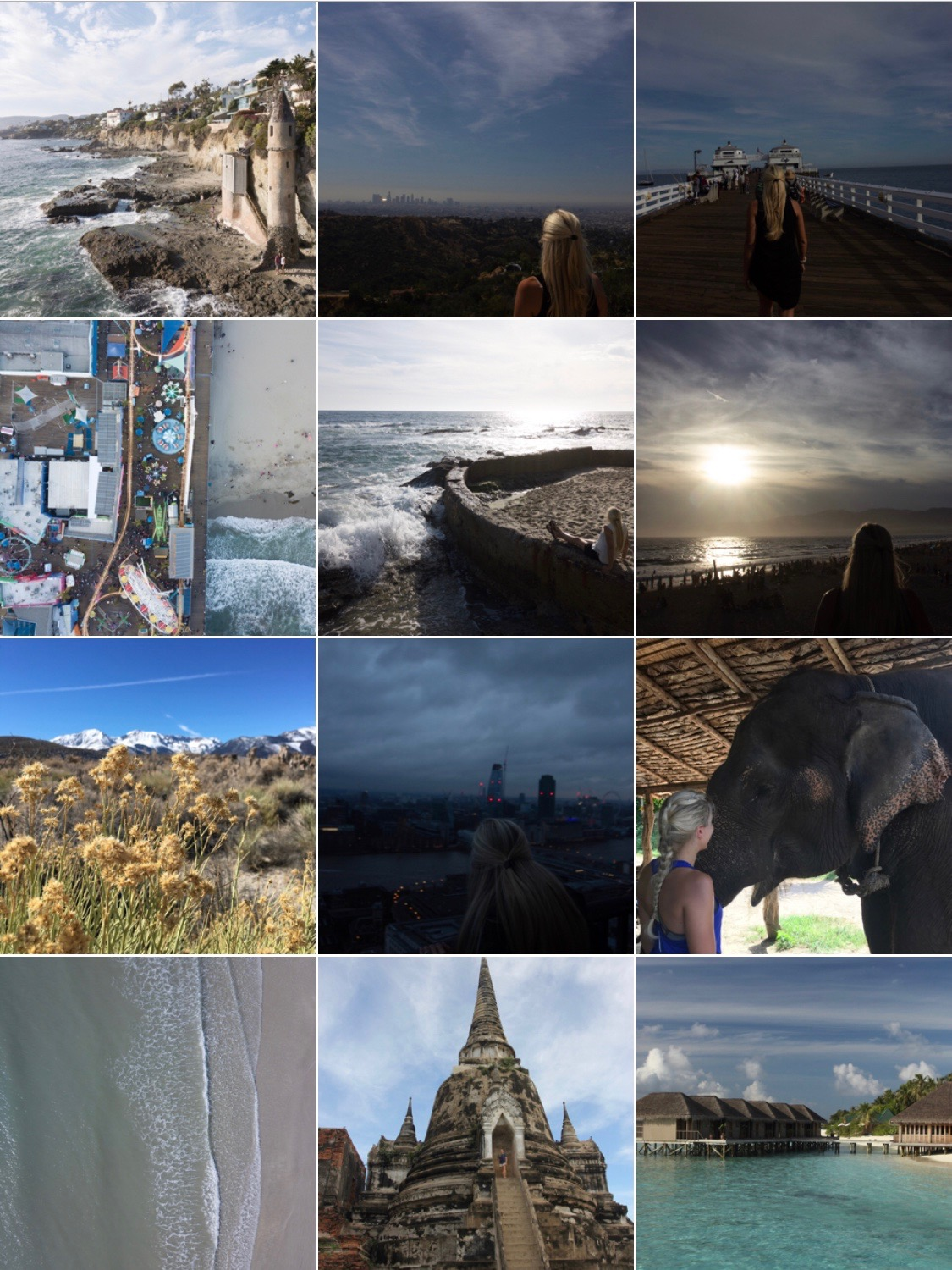 What my Instagram feed would look like without edits in Lightroom to make my feed cohesive. See how to grow your Instagram authentically on my blog post!