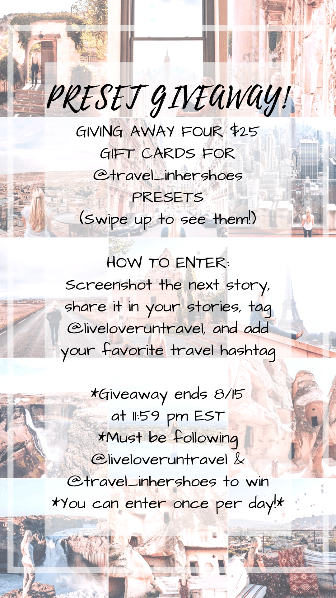 Example of a personal giveaway on Instagram as a way to give back. Learn more about growing an engaged following authentically on Instagram on the full blog post.