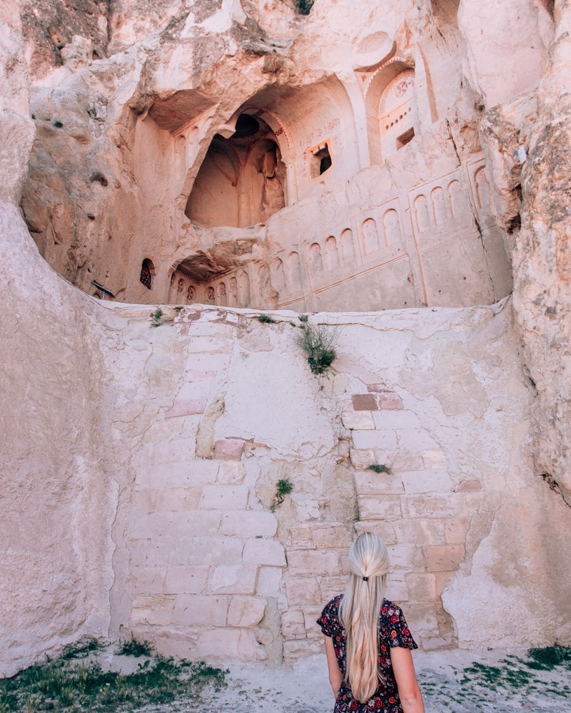 The Dark Church in Goreme Open Air Museum. Click for a 3 day itinerary and guide to Cappadocia's must see locations and most Instagramable places.