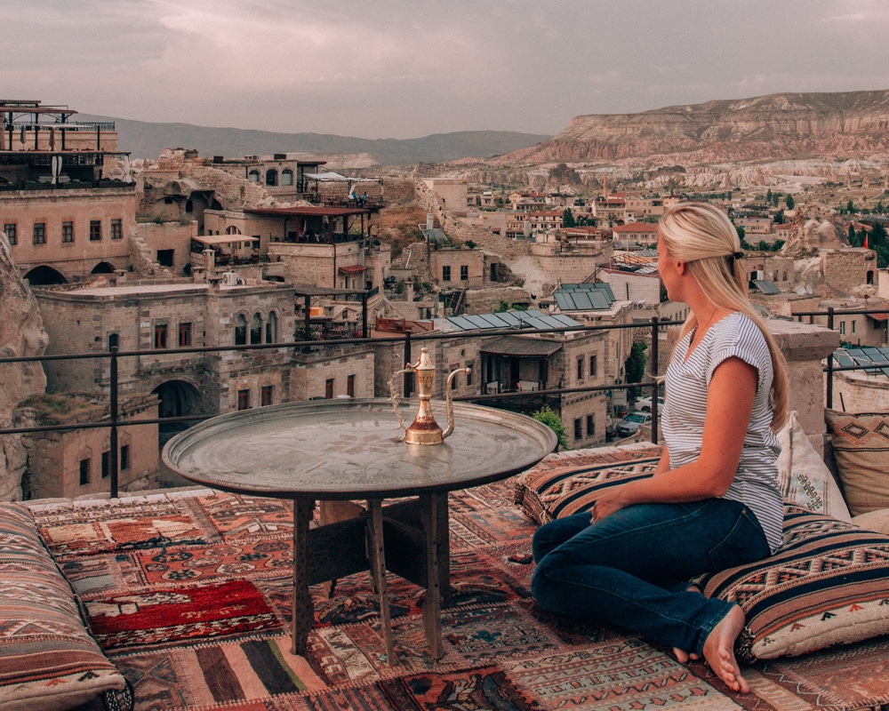 Sultan Cave Suites is probably the most famous hotel in Cappadocia and typically books months in advance. Click for a guide to Cappadocia's must see locations and most Instagramable places.