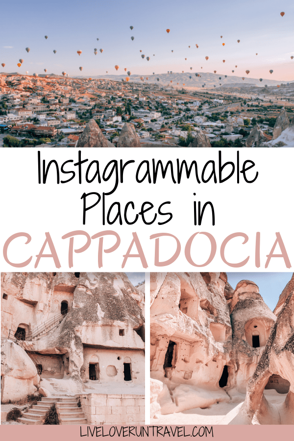 A 3 day itinerary and guide to Cappadocia's must see locations and most Instagramable places. #travel   Cappadocia Turkey   Turkey travel   Cappadocia photography   Cappadocia balloon   Cappadocia hotel   Cappadocia things to do in   Cappadocia instagram   Cappadocia itinerary   Cappadocia photo ideas   Cappadocia sunset   Cappadocia sunrise   Where to stay in Cappadocia   Cappadocia Turkey caves   Cappadocia Turkey hot air balloon   Cappadocia travel guide   Things to do in Cappadocia