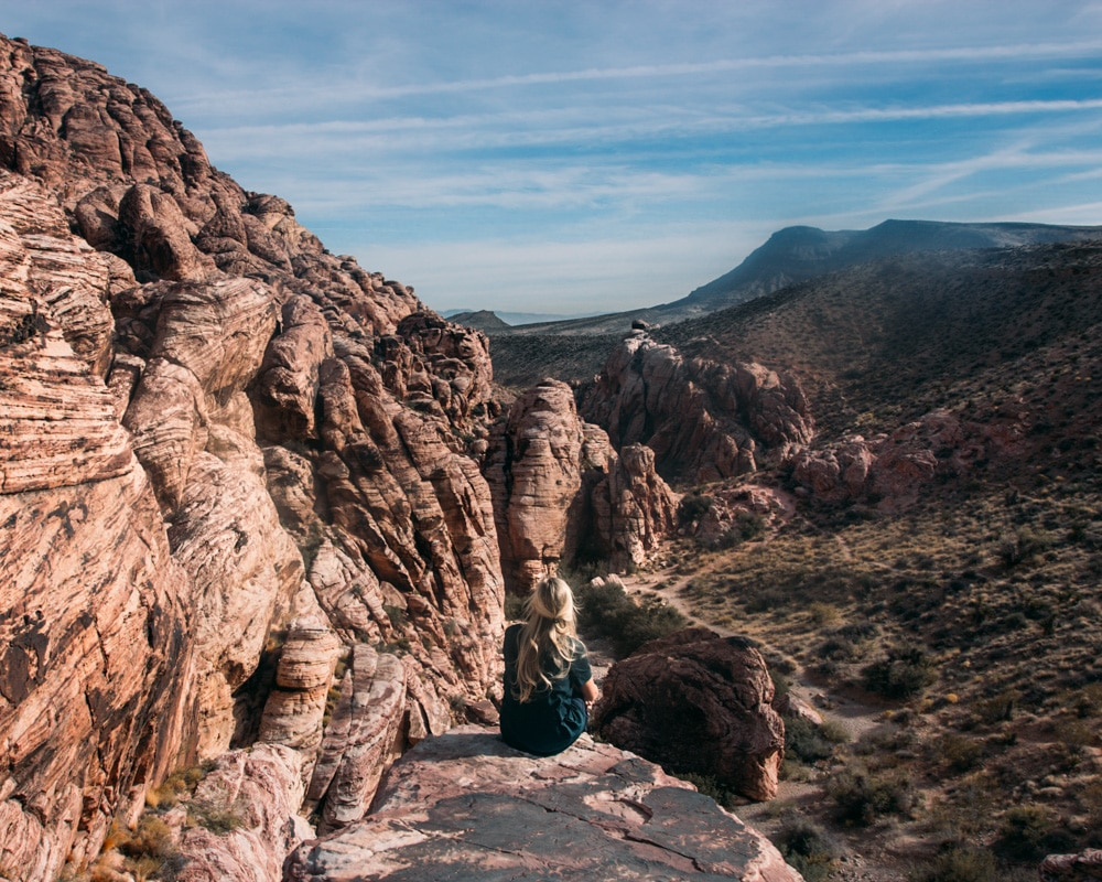 Red Rocks Canyon in Las Vegas after we found cheap flights to Las Vegas with Next Vacay.