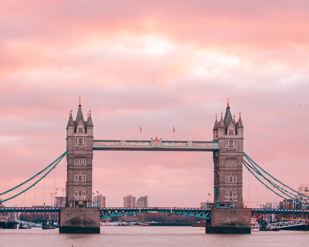 We flew to London for $450 round trip with Next Vacay and went to London Bridge to take pictures of Tower Bridge at sunrise.