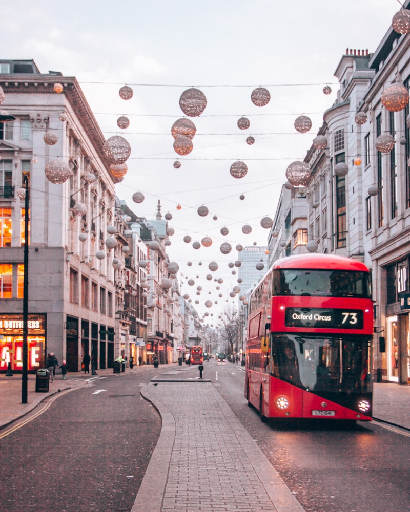 We flew to London for Christmas for $450 round trip with Next Vacay. This meant we got to enjoy the Christmas lights on Oxford Street.