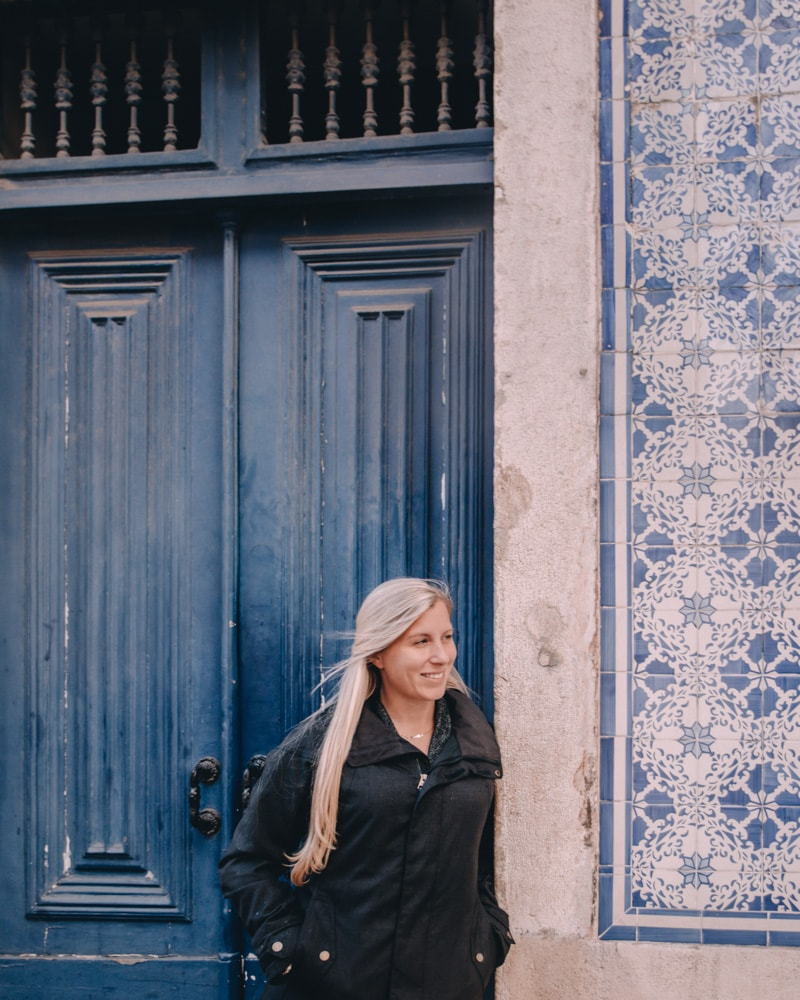 Hanging out in Biarro Alto in Lisbon, Portugal in winter. Click here for all of Lisbon's best photo spots and a free map!