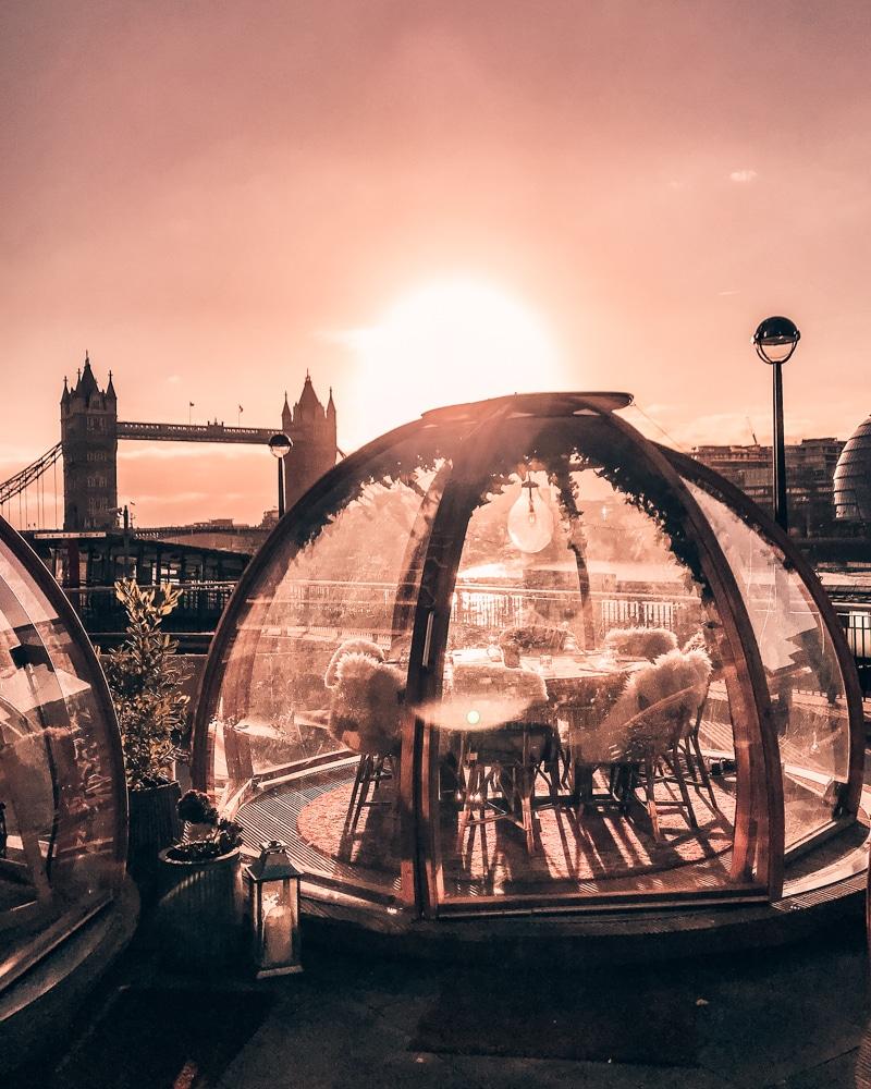 Sunrise at Tower Bridge Coppa Club Igloos