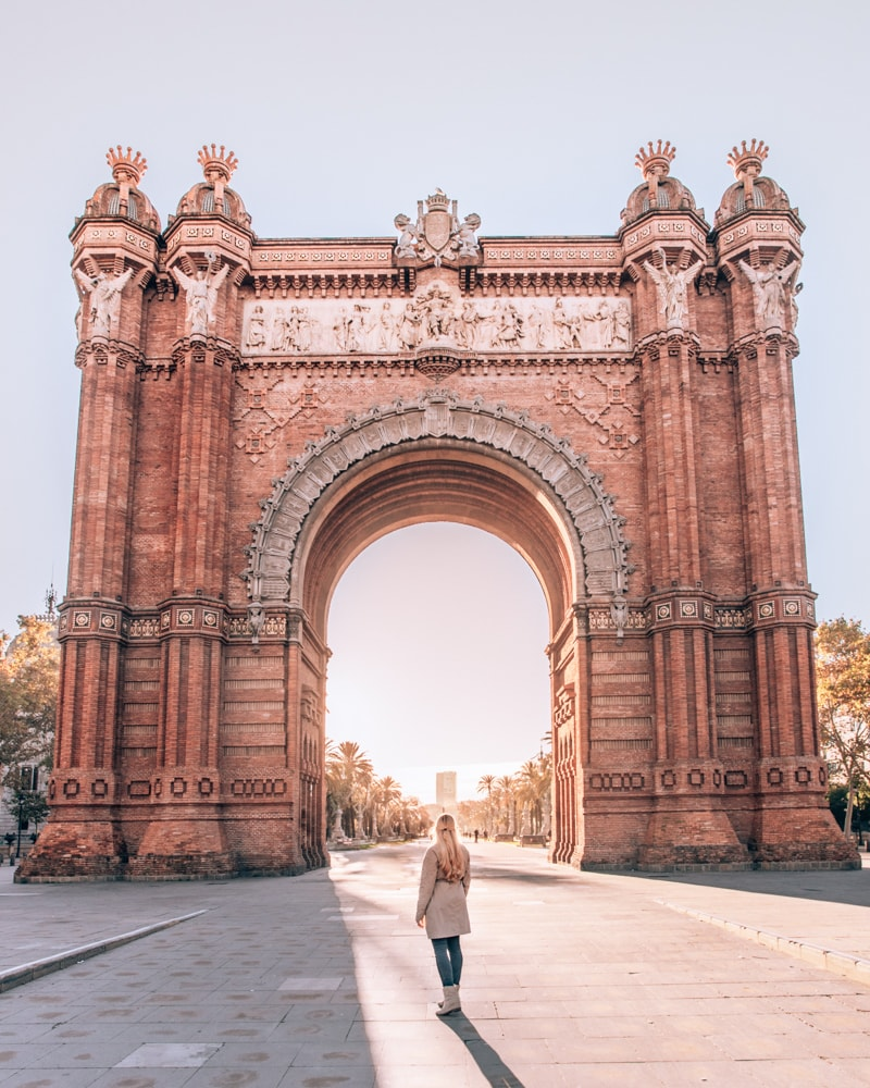 Arc de Triumf in Barcelona on a sponsored trip
