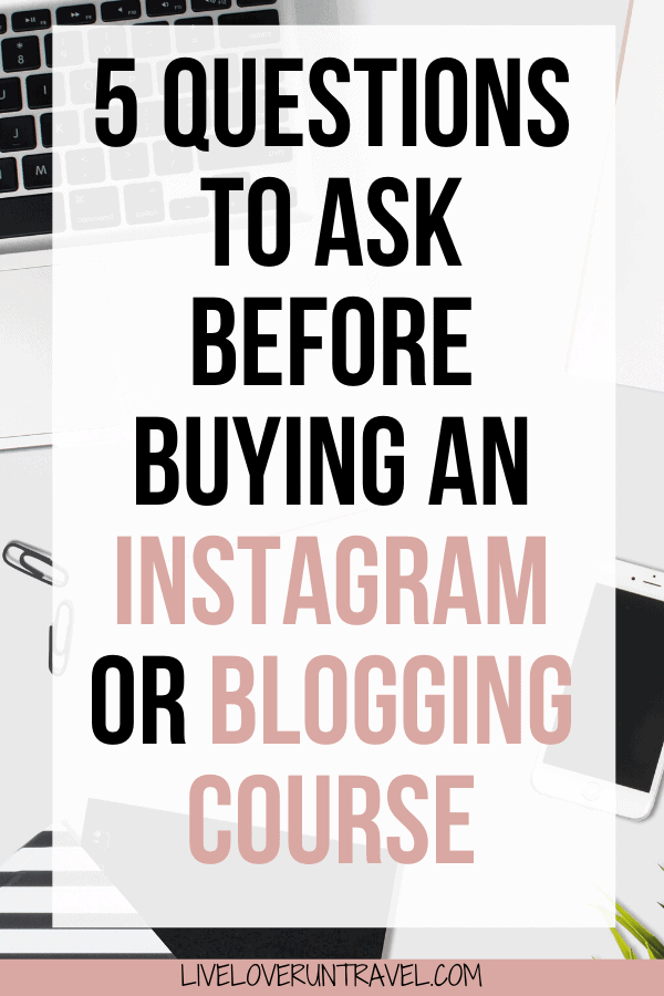 Thinking about taking an Instagram class or a blogging class? Make sure to ask these questions first! #blogger #influencer #instagram #blogtips   how to grow your blog   how to grow your Instagram   influencer Instagram   how to be an influencer   Instagram influencer tips   how to become a travel blogger   how to be a travel influencer   how to work with brands   brand collaborations   Instagram course social media   blogging courses   grow instagram followers   grow Instagram following