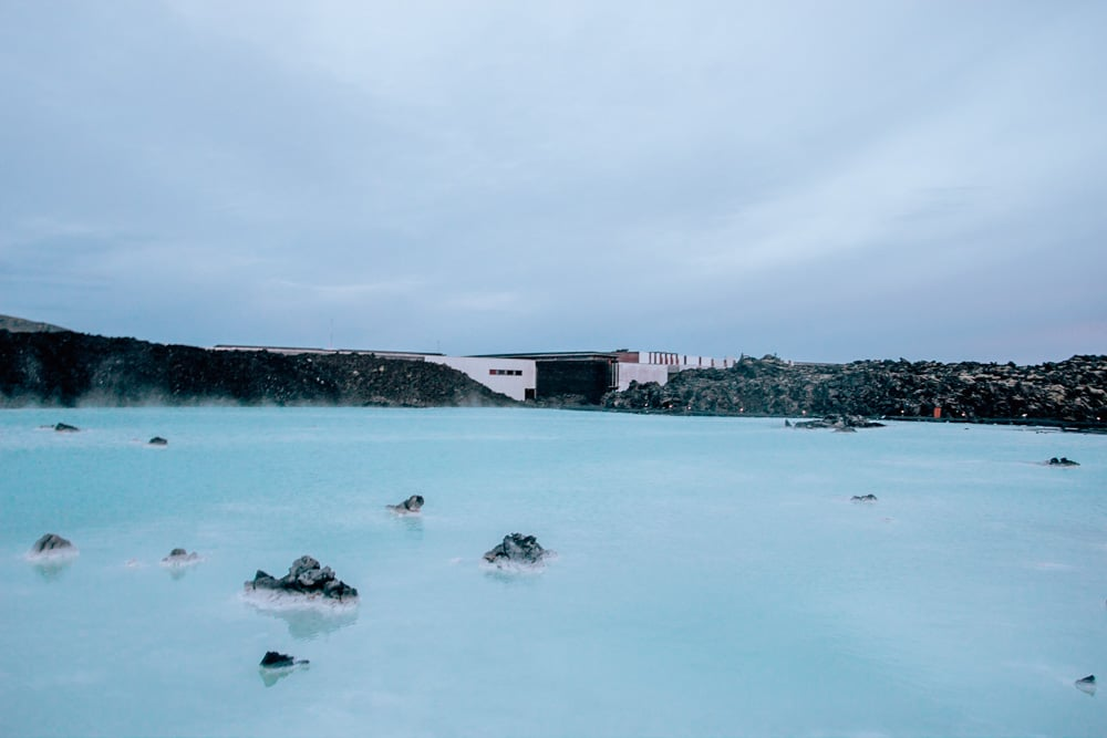 The free section of the Blue Lagoon Iceland