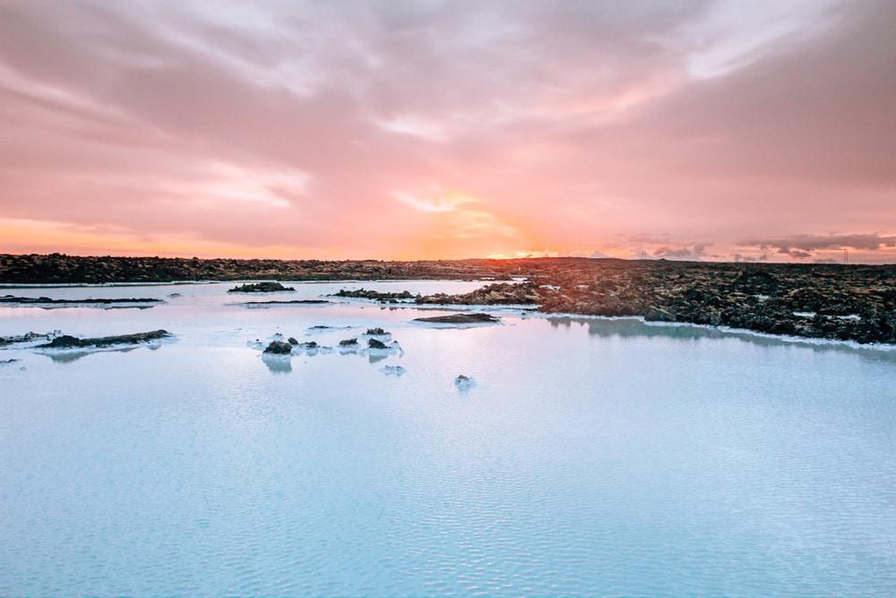 Sunrise at Blue Lagoon Iceland