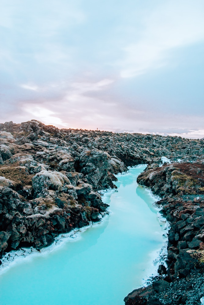 Small rivers off of the Blue Lagoon in Iceland
