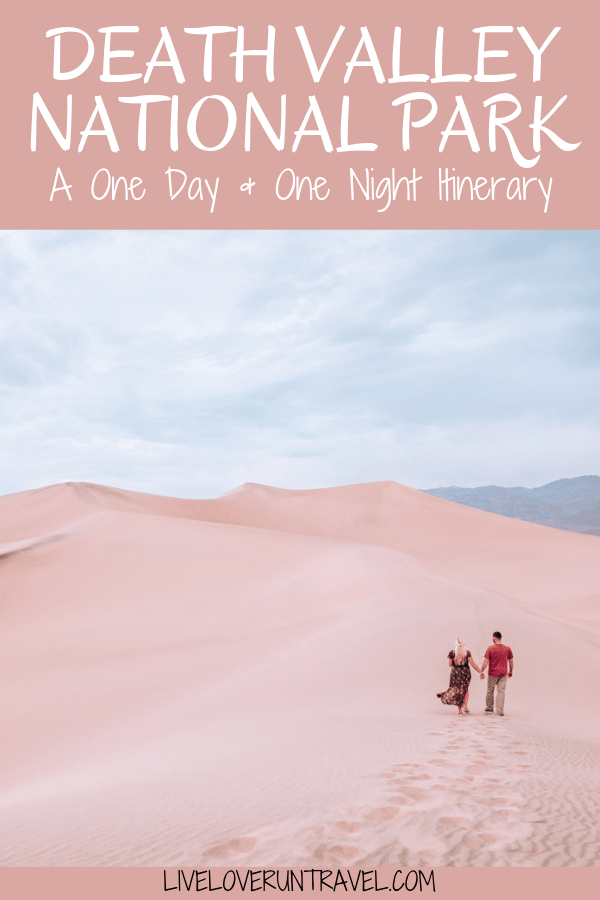 Mesquite Sand Dunes in Death Valley National Park are one of the top things to see there. Find a full one day itinerary for Death Valley including where to stay, what to see and do, and when to visit.