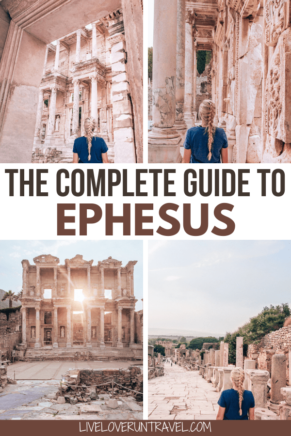 Click here for a full one day itinerary for visiting the ancient ruins of Ephesus in Turkey here. #ephesus #turkey #travel | Biblical places to visit | Biblical places in Turkey | Ephesus photography | Ephesus Turkey travel | Ephesus Bible | Library of Celsus Ephesus | Ephesus library | ancient Ephesus | Ephesus ruins | Things to do in Ephesus Turkey | Ephesus travel tips | Ephesus Turkey ruins