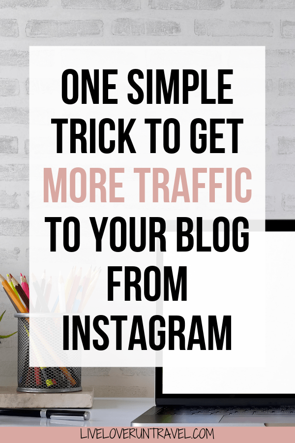 How to use one simple and easy trick to drive more traffic to your blog from Instagram today! #blogging #instagram #socialmedia tips for blogging   blogging tips for beginners   blogging 101   beginners blogging   get traffic to your blog   grow blog traffic   get more blog traffic   blog traffic tips   how to get blog traffic   increase blog traffic   blog traffic instagram   instagram link in bio   how to blog for money   how to grow your blog   blog growth   grow your blog with instagram