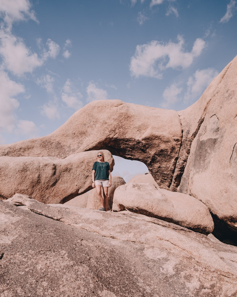 Arch Rock in Joshua Tree National Park. The perfect itinerary for one day in Joshua Tree National Park in California including the best hikes in Joshua Tree and Joshua Tree Instagram photo spots. This guide includes the best things to do in Joshua Tree along with Joshua Tree photography. Joshua Tree California is one of the best national parks in California and one of the best national parks in the United States. Joshua Tree is a must stop on a California road trip, and you can definitely see Joshua Tree in one day.