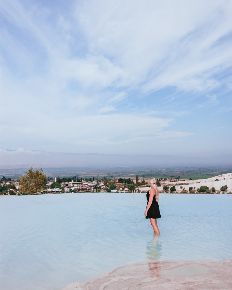 The lower pools have less people because most tours stay at the top. The Ultimate Guide to Visiting Pamukkale gives you all the information you need about what you can really expect, when to go, where to stay, and more.