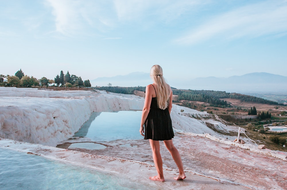 This top area of the pools is extremely slippery, so use caution! The Ultimate Guide to Visiting Pamukkale gives you all the information you need about what you can really expect, when to go, where to stay, and more.