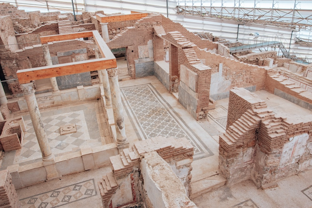 The terrace houses in Ephesus have an extra fee but are worth the cost. You can see several of the homes of the wealthy and image how they lived in ancient times. ind a full one day itinerary with everything you need to know about visiting the ancient ruins of Ephesus in Turkey here.