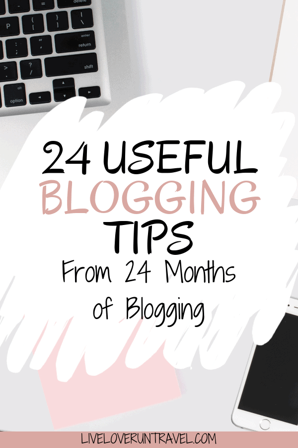 To celebrate 2 years of blogging, here are 24 blogging tips I have learned along the way. Learn from my blogging mistakes and get useful tips on growing your blog traffic and building a community.
