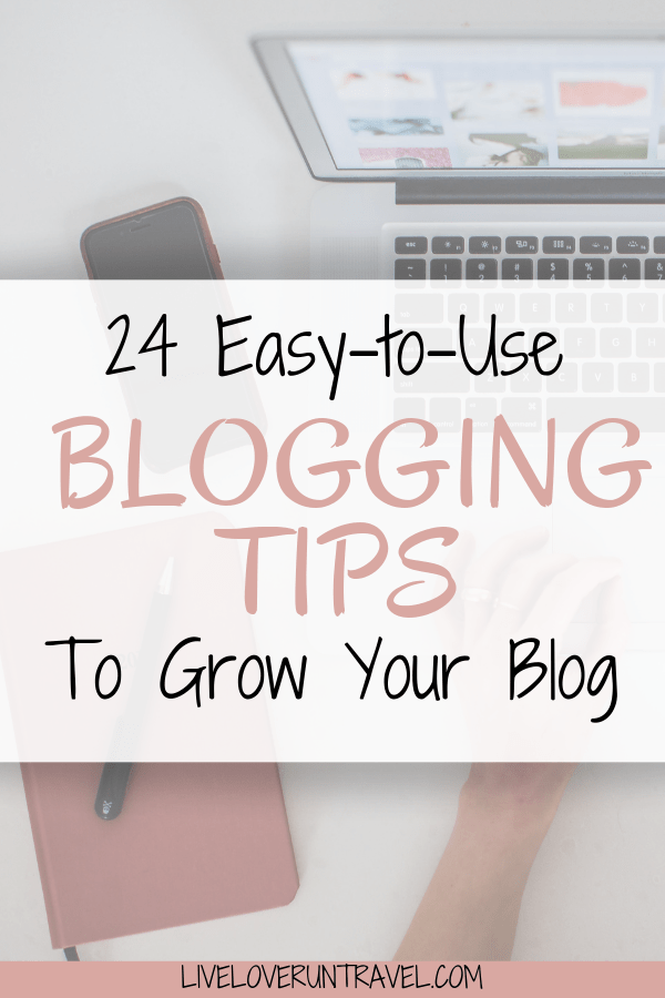 There is so much more to growing a blog than you may realize. Here are 24 blogging tips I've learned over 24 months of blogging to help increase your blog traffic and build a community.