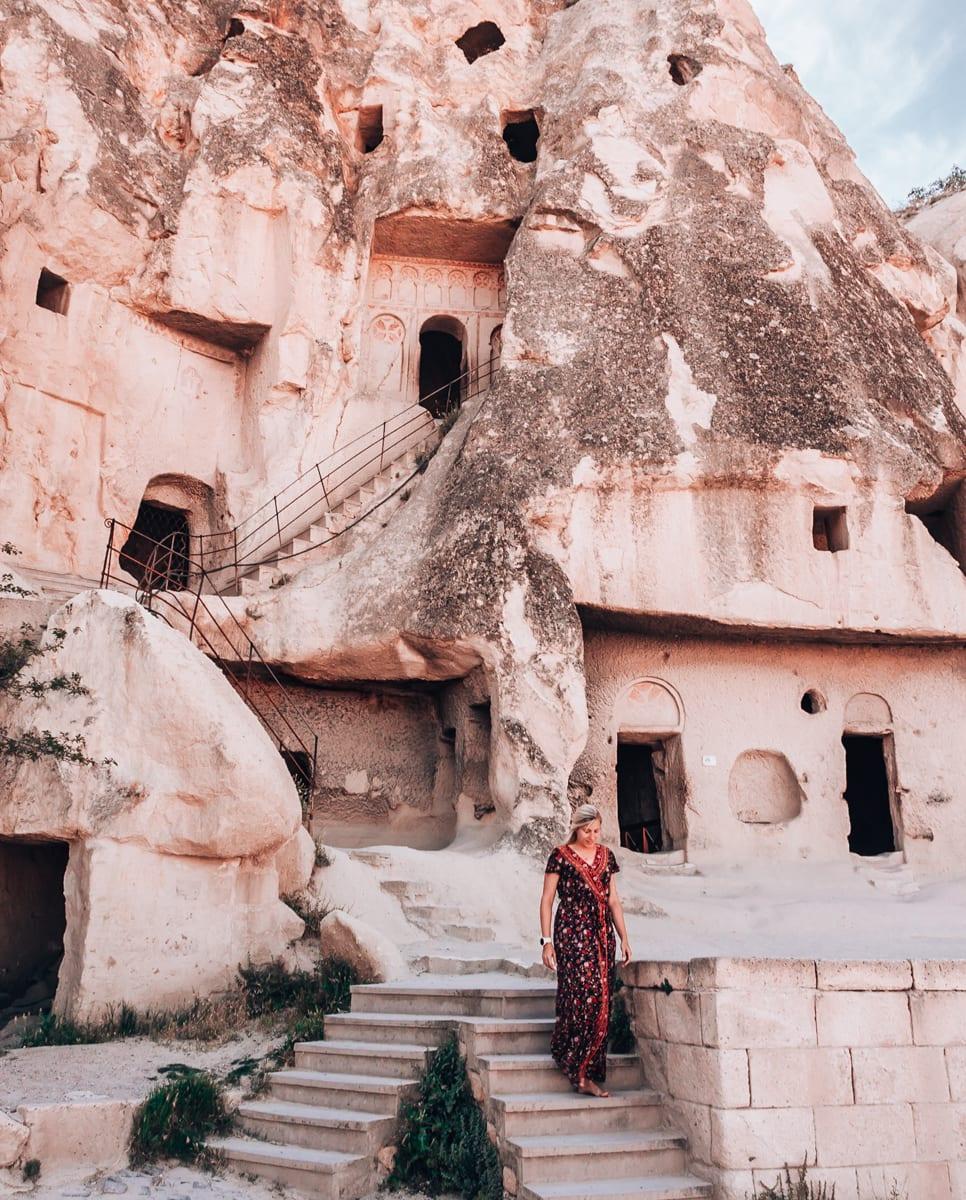Goreme Open Air Museum's cave churches in Cappadocia.
