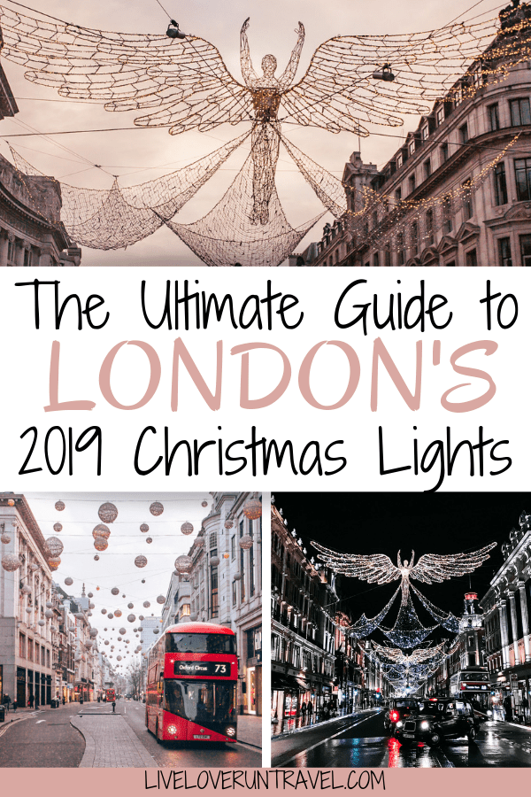 The best Christmas lights in London on Regent Street and Oxford Street.