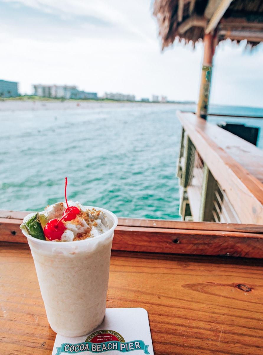 A virgin Key Lime Pie drink at Rikki Tiki Tavern on the Westgate Cocoa Beach Pier.