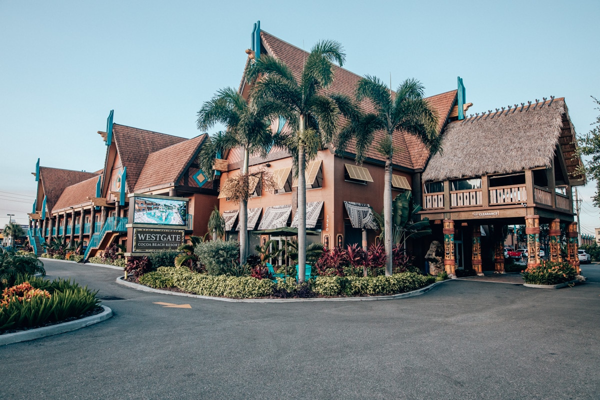 The front of Westgate Cocoa Beach Resort on A1A in Cocoa Beach, Florida.