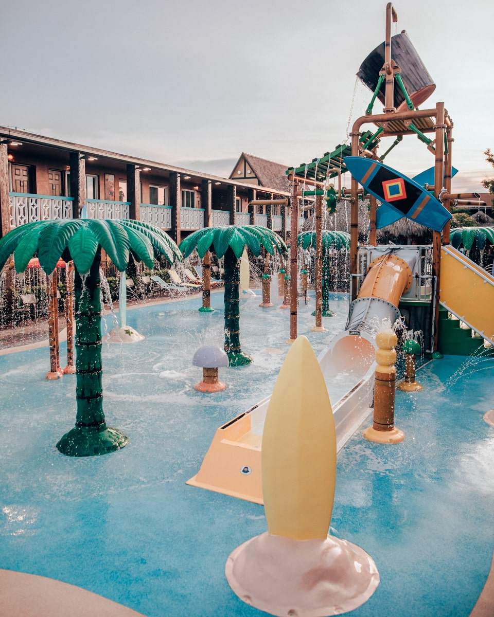 Wakulla Falls Water Park's splash pad at Westgate Cocoa Beach Resort.