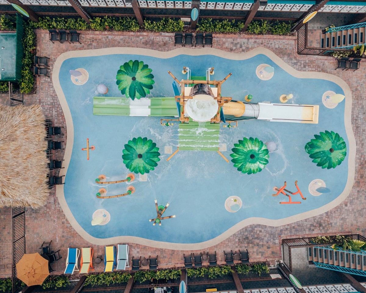 The splash pad at Wakulla Falls Water Park in Westgate Cocoa Beach Resort.