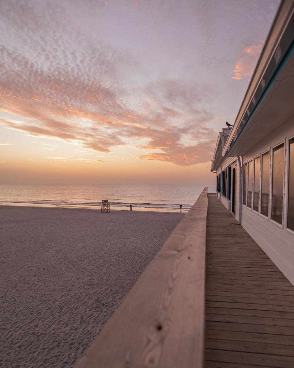 The Westgate Cocoa Beach Pier at sunrise