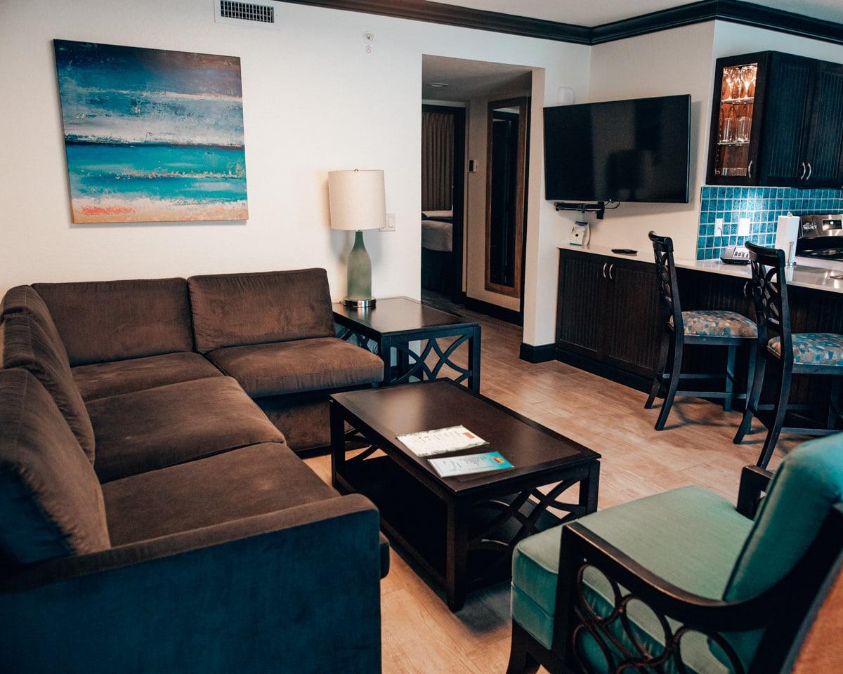 Living room in Westgate Cocoa Beach Resort suite
