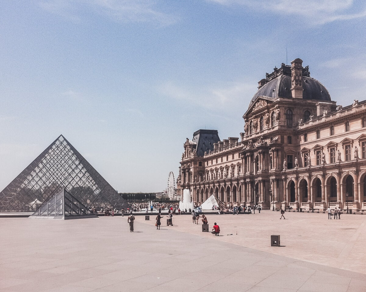 The Louvre in Paris. Click here for a full guide to New Year's in Paris including holiday hours for popular Paris attractions.