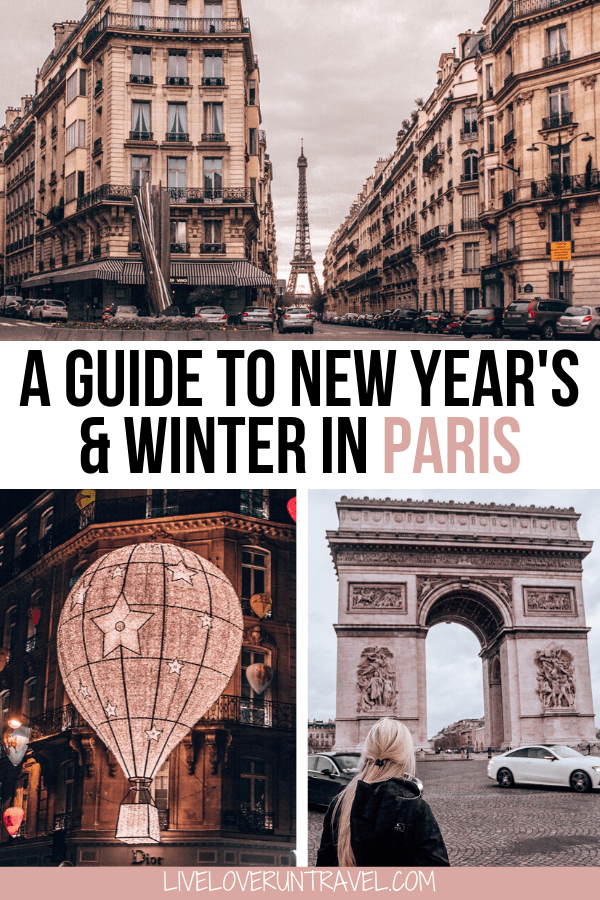 Tips for spending New Year's in Paris including where to see fireworks, things to do in Paris in winter, and the best hotels in Paris. #paris #newyears #france | New Year's in Paris | New Year's Eve in Paris | things to do in Paris on New Year's | what to do in Paris | New Year's Eve parties Paris | hotels with Eiffel Tower view | Paris in winter | winter in Paris | instagrammable Paris | Eiffel Tower Paris | best things to do in Paris in winter | best views of Eiffel Tower
