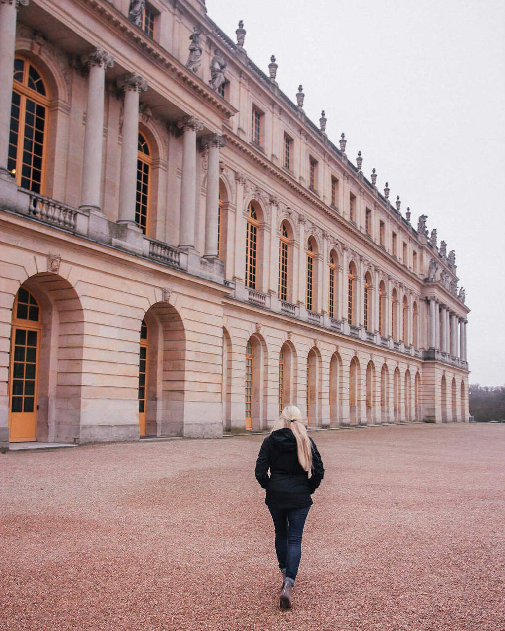 The gardens at Versailles in winter. Get travel tips for Paris in winter in this guide to Paris at New Year's.