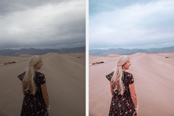 Photo edited with Aggie presets, Travel in Her Shoes presets before and after