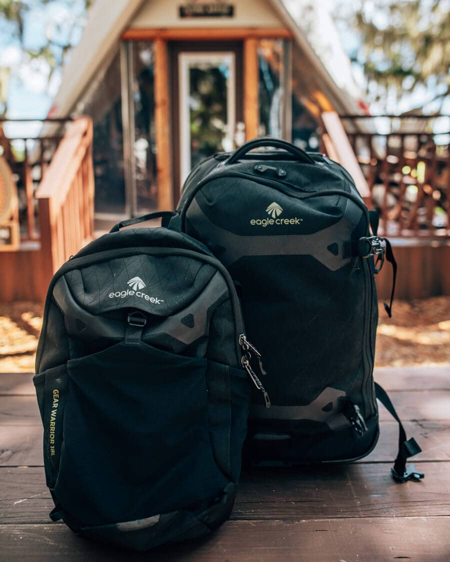 Eagle Creek Gear Warrior Convertible Carry-On comes with a backpack and rolling backpack.
