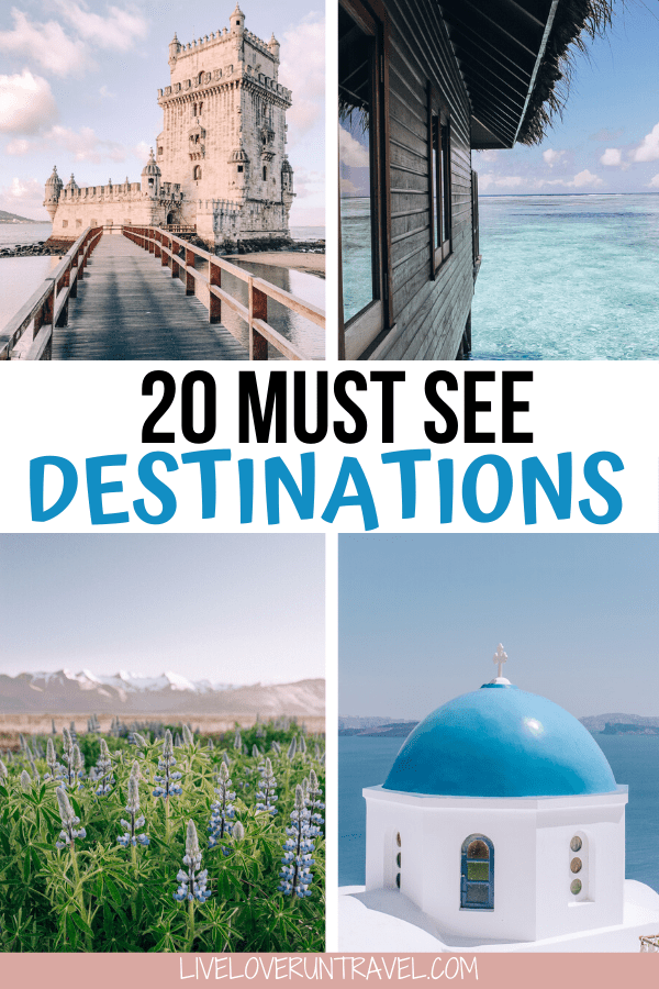 Click here for a list of the top 20 travel destinations for 2020 you must see! #beautifulplaces #bucketlist #travel | once in a lifetime destinations | bucket list destinations | bucket list travel | best places to visit | most beautiful destinations in the world | off the beaten path destinations | bucket list before I die | travel bucket list United States | Africa travel bucket list | bucket list Europe cities | bucket list Europe travel | best places to go | travel destinations