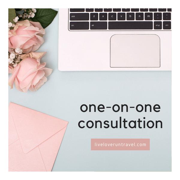 One on one consultation for blogging, Instagram, or Pinterest
