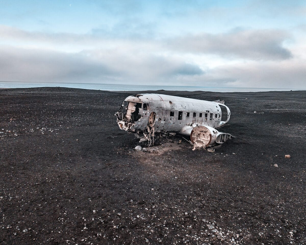 The Iceland plane wreck is usually empty in the morning